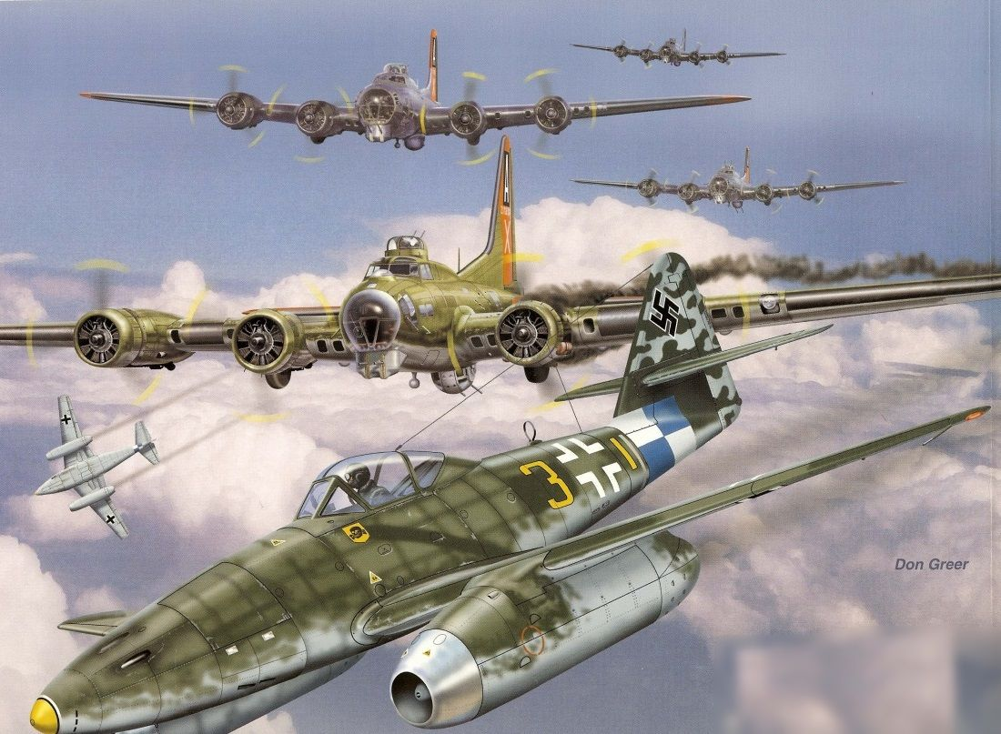 Обои painting, don greer, german fighter, Fw 190, aviation, war, ww2. Авиация foto 13