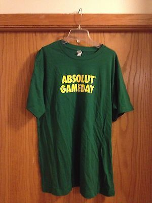 """Absolute Vodka """"Absolut Gameday"""" T-Shirt GREEN BAY Packers NEW XL"""