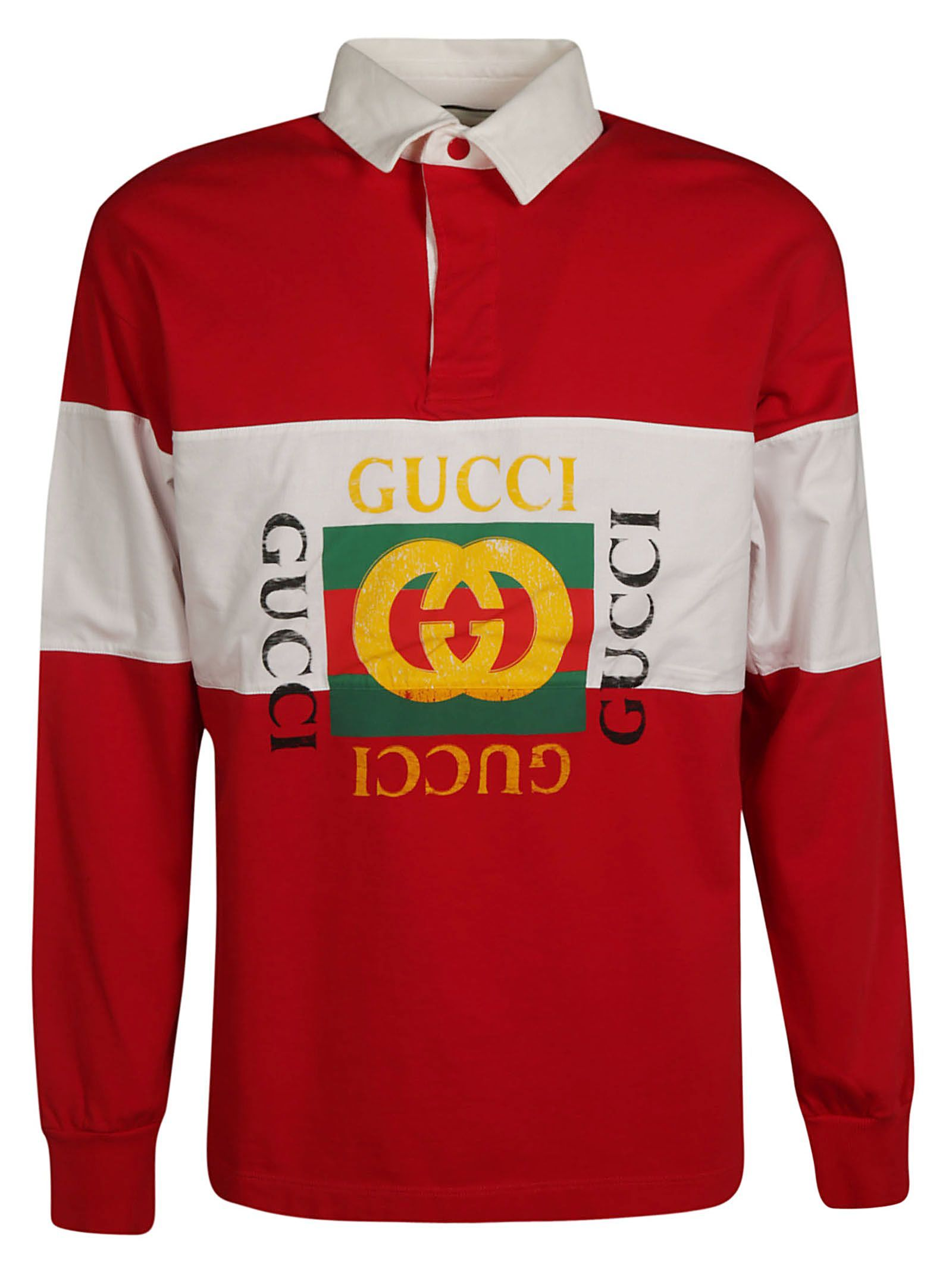 030c64ac GUCCI LOGO PRINT POLO SHIRT. #gucci #cloth | Gucci in 2019 | Printed ...