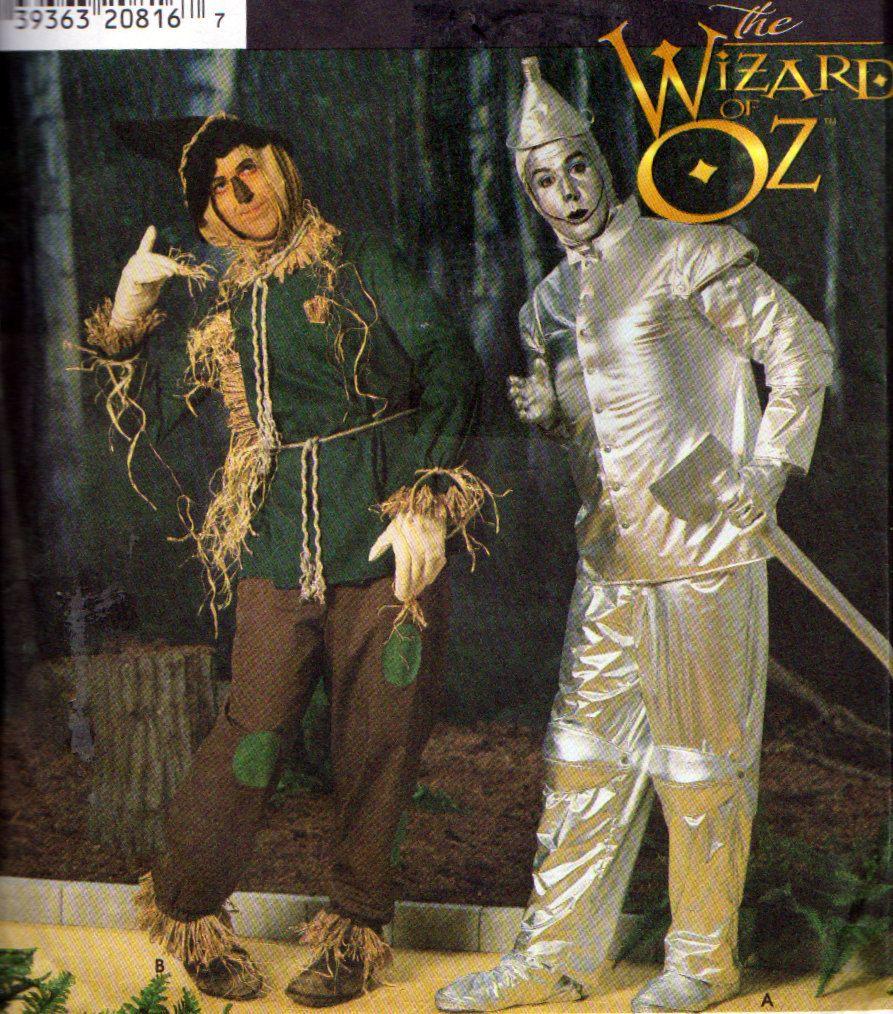Simplicity 7820, Wizard of Oz, Tin Man Costume, Scarecrow Costume ...