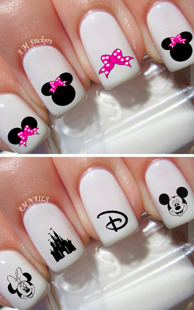 Adorable!!! | Disney nail decals | minnie mouse | mickey mouse ...