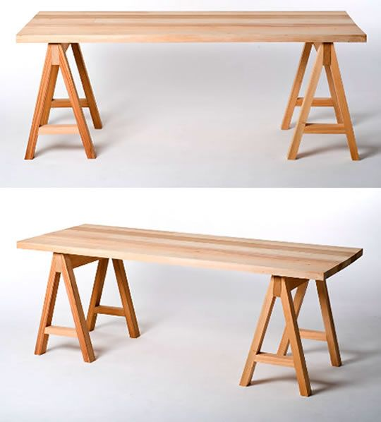 Saw horse table design stuff i like pinterest horse Sawhorse desk legs