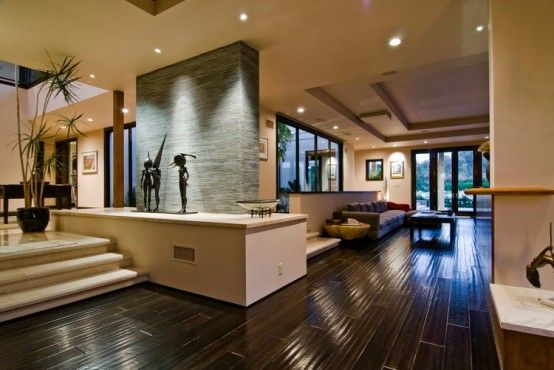Sala moderna con piso de madera home decor in house home