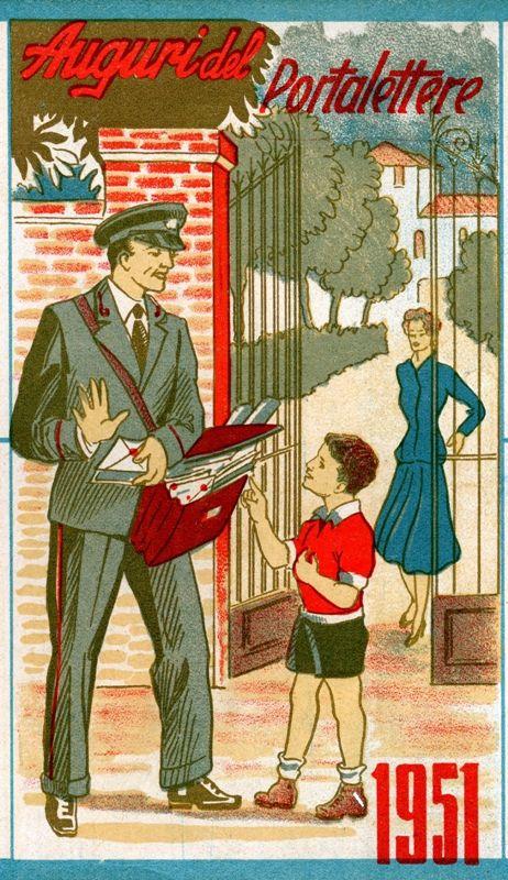 Calendario 1951.Calendario 1951 Il Natale Delle Poste Calendario E Natale