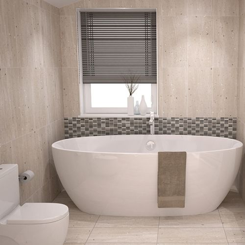 Conglomerates Warm Sands Matt Bathroom Wall Tile Johnson Tiles Bathroom