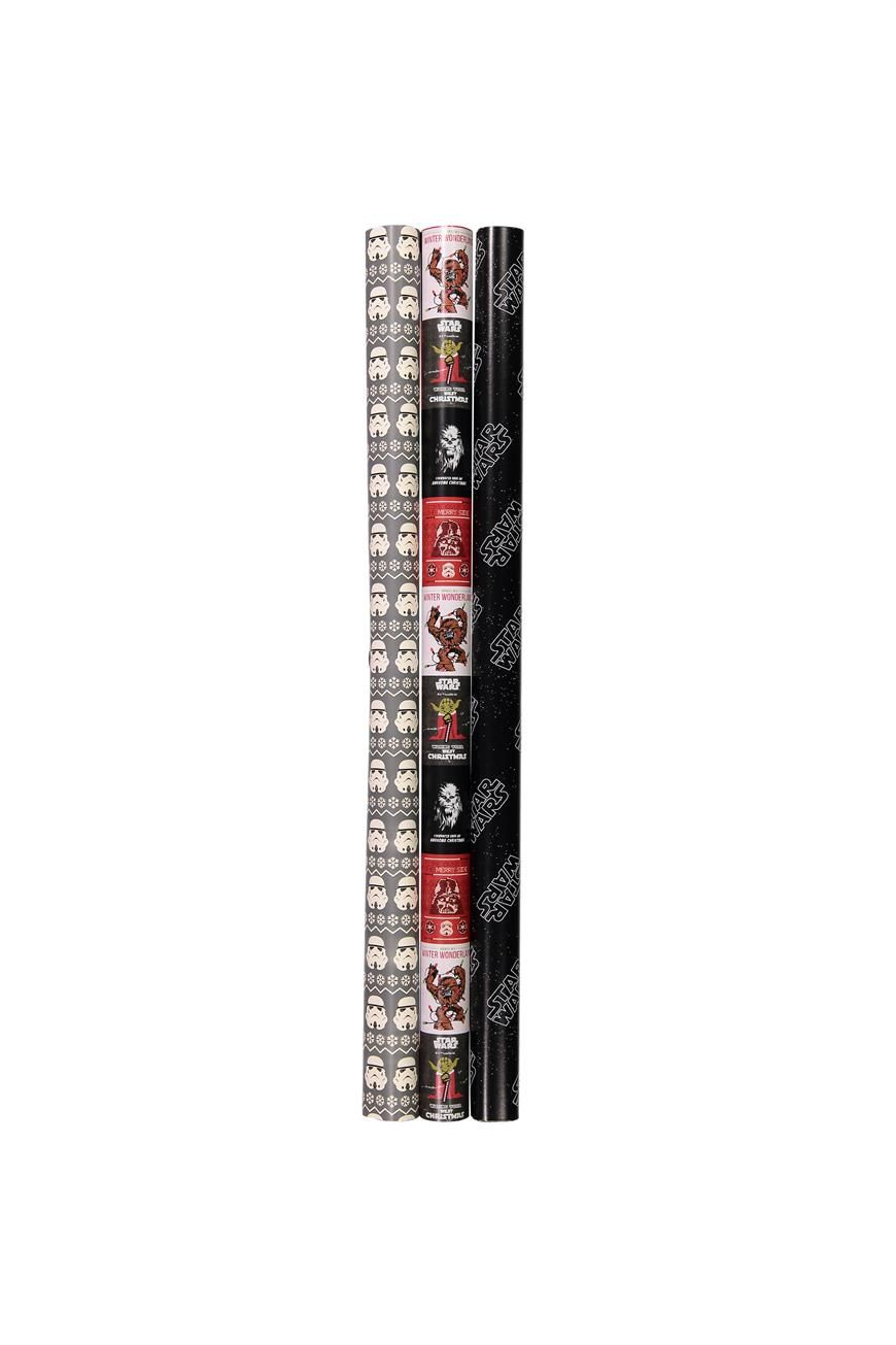 """9 metres (29.5 Feet) of co-ordinated Christmas wrapping paper! <br> In loads of cool patterns and designs to choose from, you can create the best looking Christmas ever! We have tags, ribbon and cards to match. <br> Dimensions: 70cm x 300cm/ 27.55"""" x 118.1"""", 3 designs per pack. <br/>"""