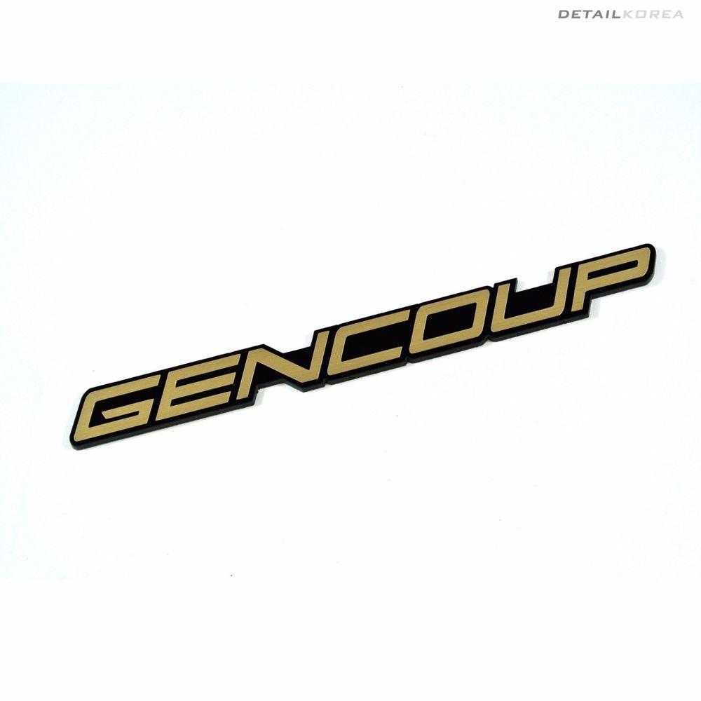 Detailkorea Gencoup Car Emblem B-Type Gold Color for Hyundai GENESIS COUPE #Detailkorea #Car #Car_Emblem #Emblem #Lettering_Emblem #Hyundai #GENESIS_COUPE #Gencoup