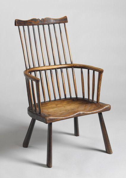 A Rare Early Comb Back Windsor Chair #FolkArt
