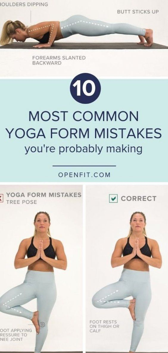 10 Most Common Yoga From Mistakes    Let   s look at some of the common yoga form mistakes     and h...