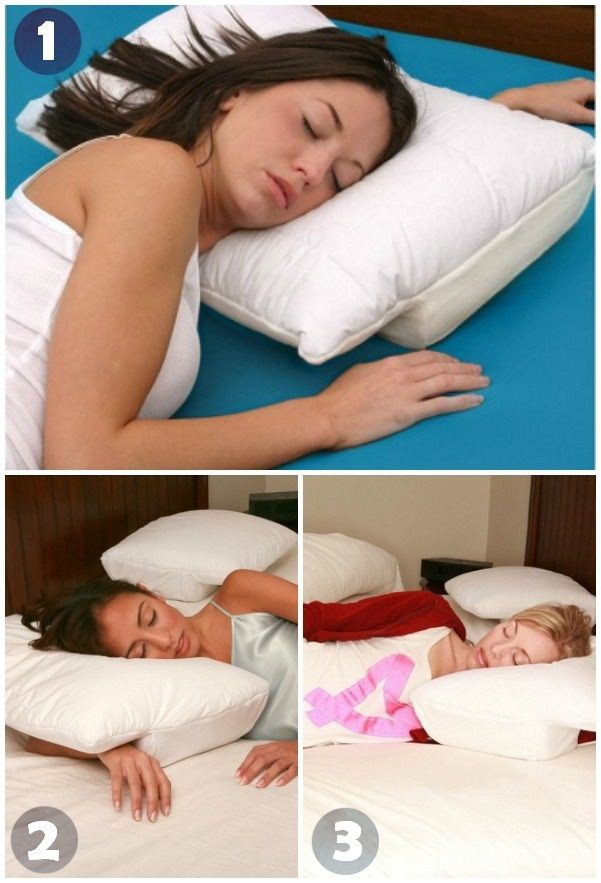 92ea8a10c6975 3 Important Sleeping Positions During Pregnancy – First Trimester.  Interesting pillow for anyone who like their arm up under their head.