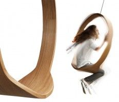 Wooden Circle Swing Model N.1 Acts As A Contemporary Rocking Chair |  Designboom Shop