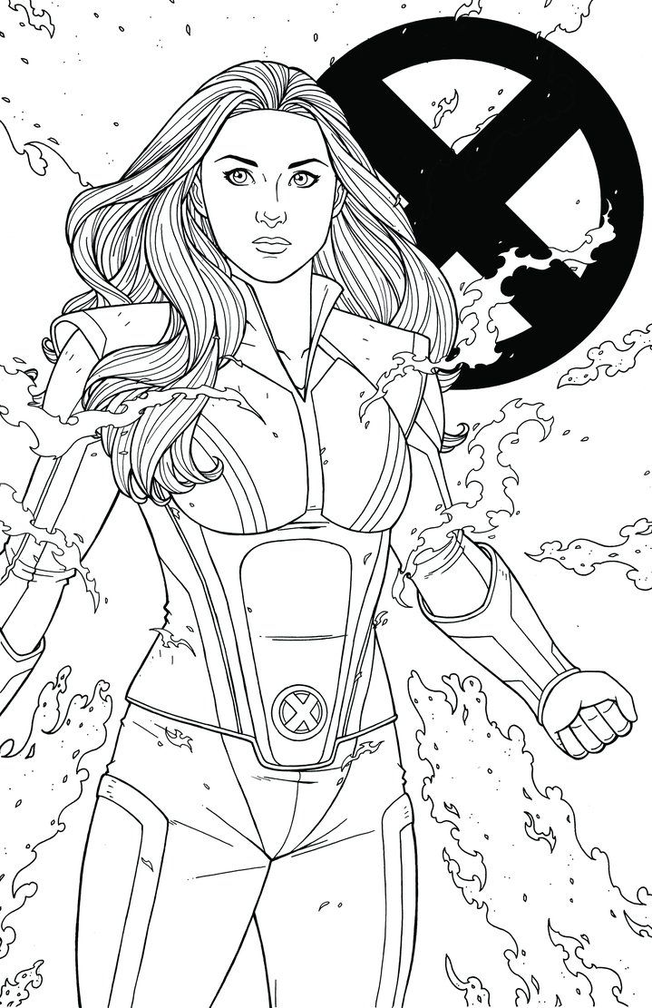 Jean Grey By Jamiefayx Marvel Coloring Jean Grey Avengers
