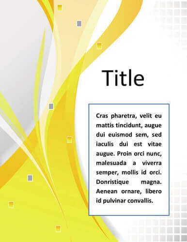 Free Title Page Template By HloomCom  Download
