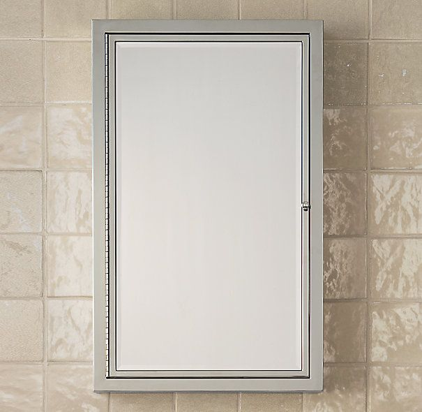 RH Framed Medicine Cabinet s555.00. Mirror in and out, sml 16.5w x ...