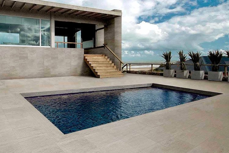 Dise o de pavimentos de exterior decoraci n terrazas y - Suelos piscinas exteriores ...