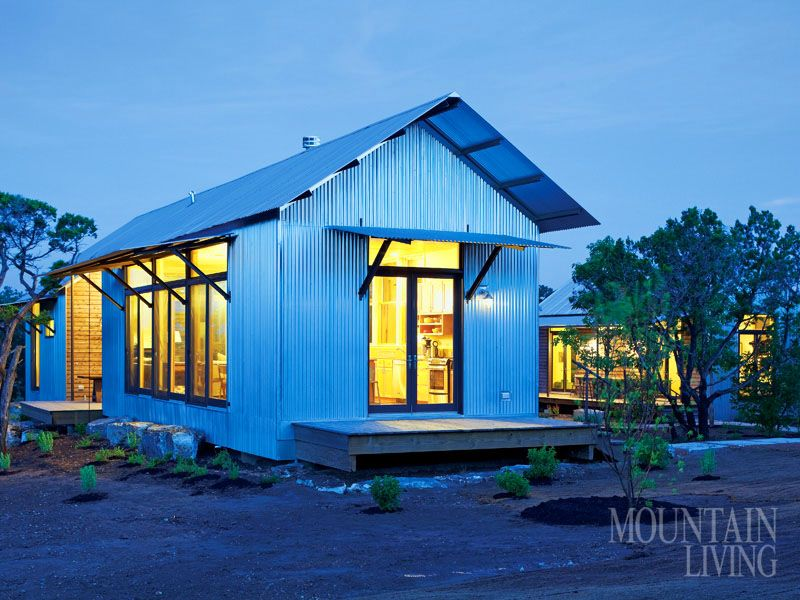 Texas Hill Country Prefab House Green Design Corrugated