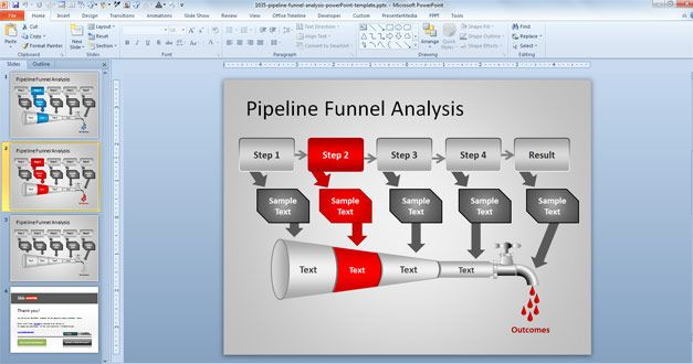 pipeline funnel analysis powerpoint template | projects to try, Powerpoint templates