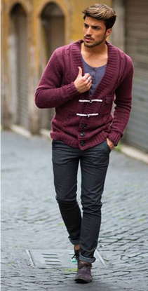 Burgundy #men #sweater #fashion | Deep Autumn Men's Clothes ...