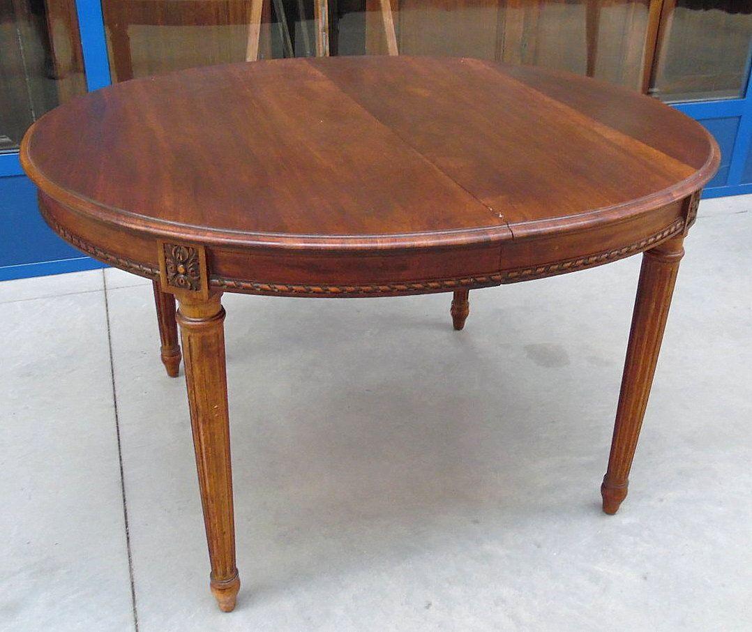 Tavolo ovale in noce stile luigi xvi napoleone iii fine '800 ...