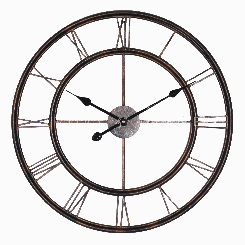 Clocks Metal Clock Large Metal Wall Clock Oversized Wall Clock