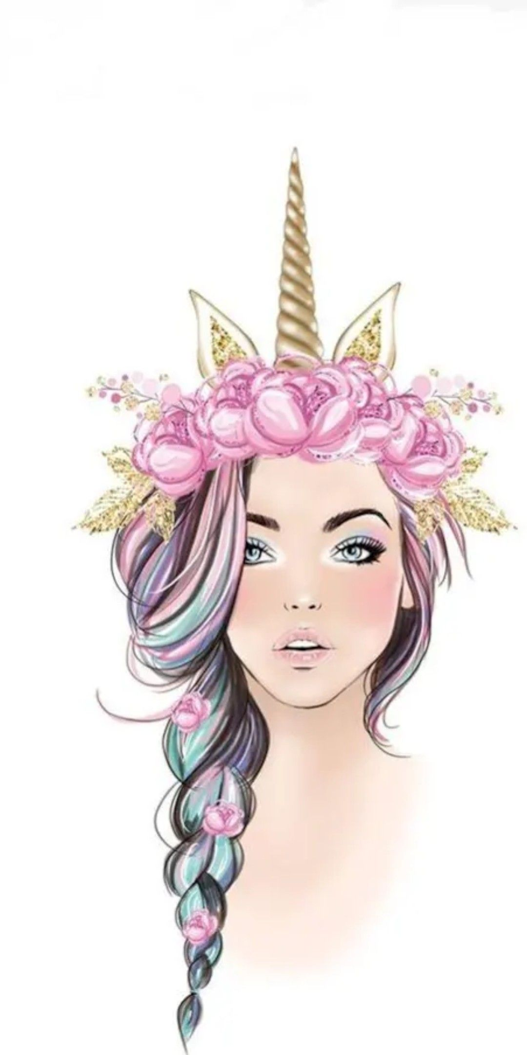 Unicorn Girl Pictures : unicorn, pictures, Unicorn, Girl🦄, Wallpaper, Cute,, Pictures,