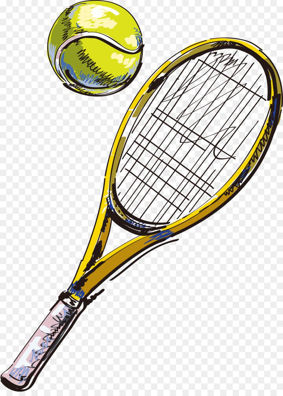 Tennis Racket Throw Pillow Badminton Tennis Tennis Racket Tennis Tennis Drawing