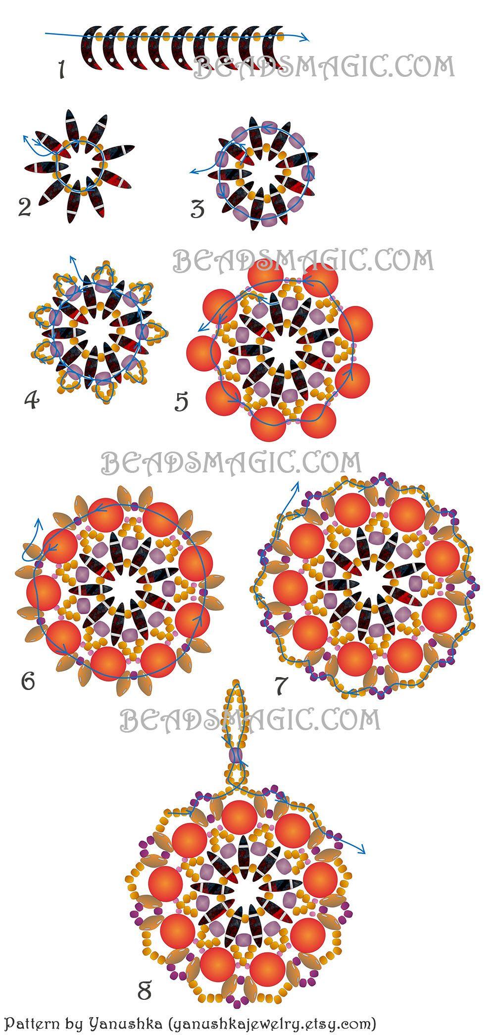 free-pattern-pendant-crescent-tutorial-beadwork-2.jpg 1000×2088 пикс