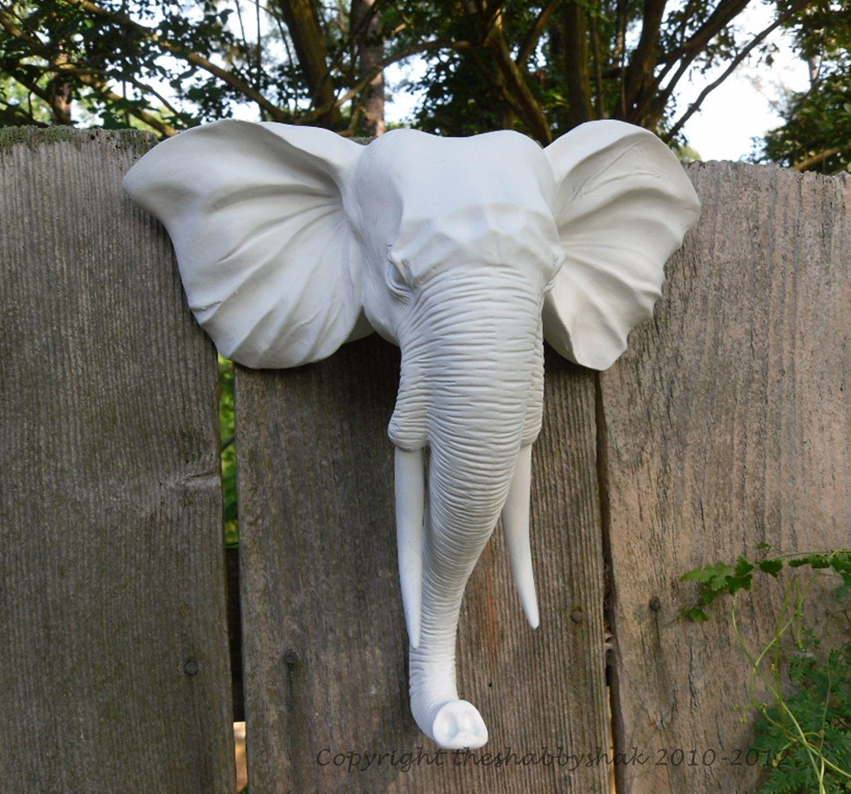 Faux Taxidermy Wall Mount Animal Head Modern Elephant