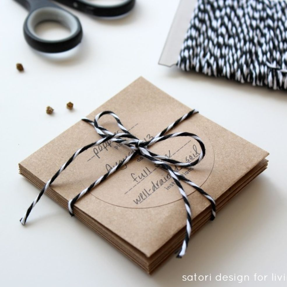 Create Your Own Seed Packets   Seed packets and Christmas gifts