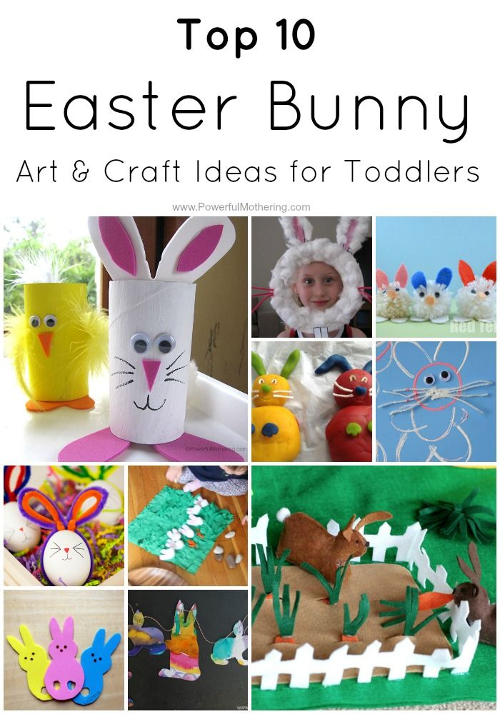 Top 10 Easter Bunny Art Craft Ideas For Toddlers Kids Activities