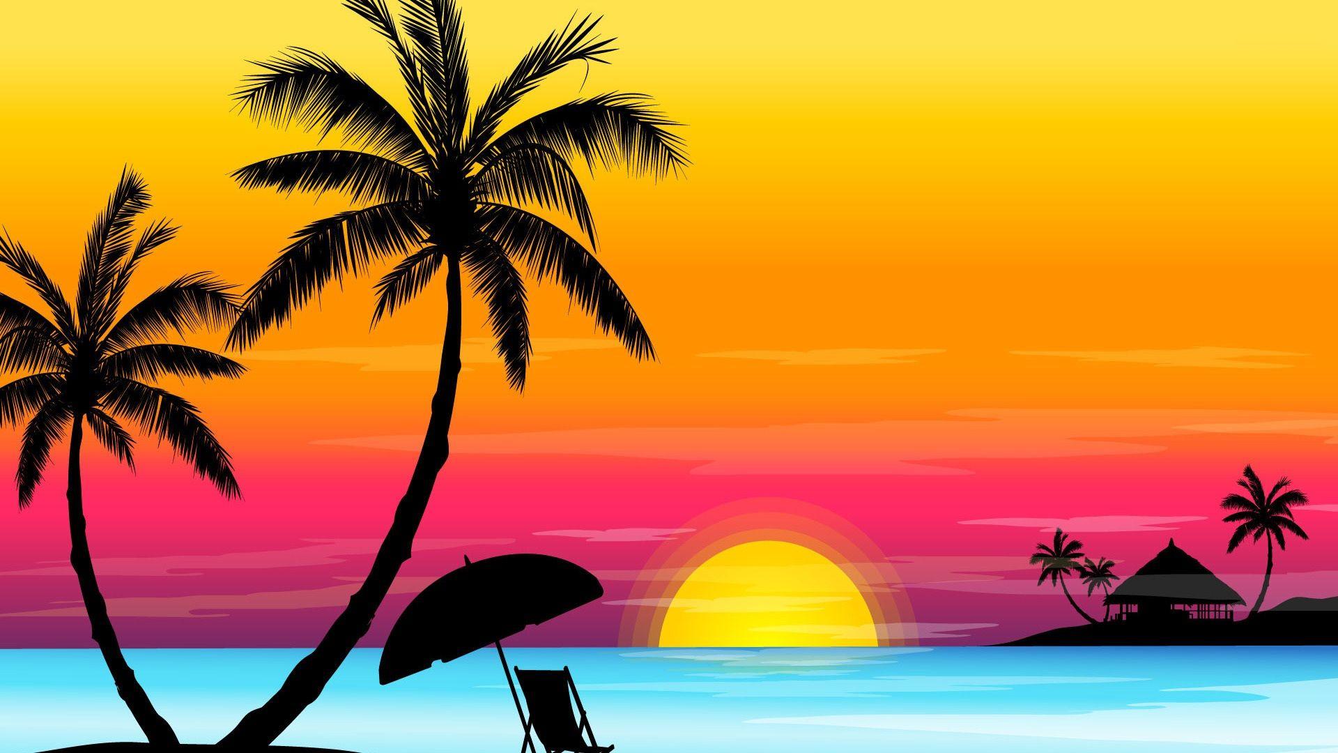 Beach Sunset 1080p Wallpaper Unique Hd Wallpapers Beach Sunset Wallpaper Beach Background Sunset Wallpaper