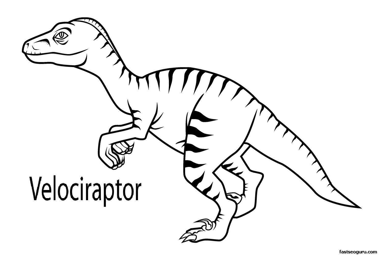 Dinosaur Coloring Pages Velociraptor #dinosaurpics nice Dinosaur