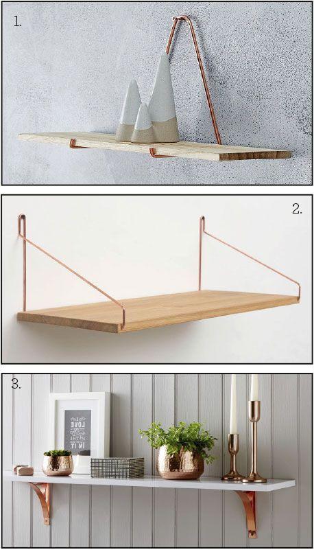 shelf-copper | Furniture & Decor | Pinterest | Copper shelf ...