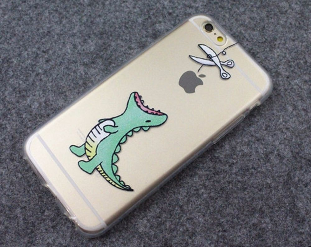 detailed look c8305 35ed3 Dinosaur waiting to eat Apple Cute phone soft case for iPhone 5/5S/6 ...