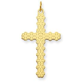 14kt Yellow Gold Laser Designed Cross Pendant - Laser Design Crosses by JewelryShopping.com  Price: $ 106.01 / Each