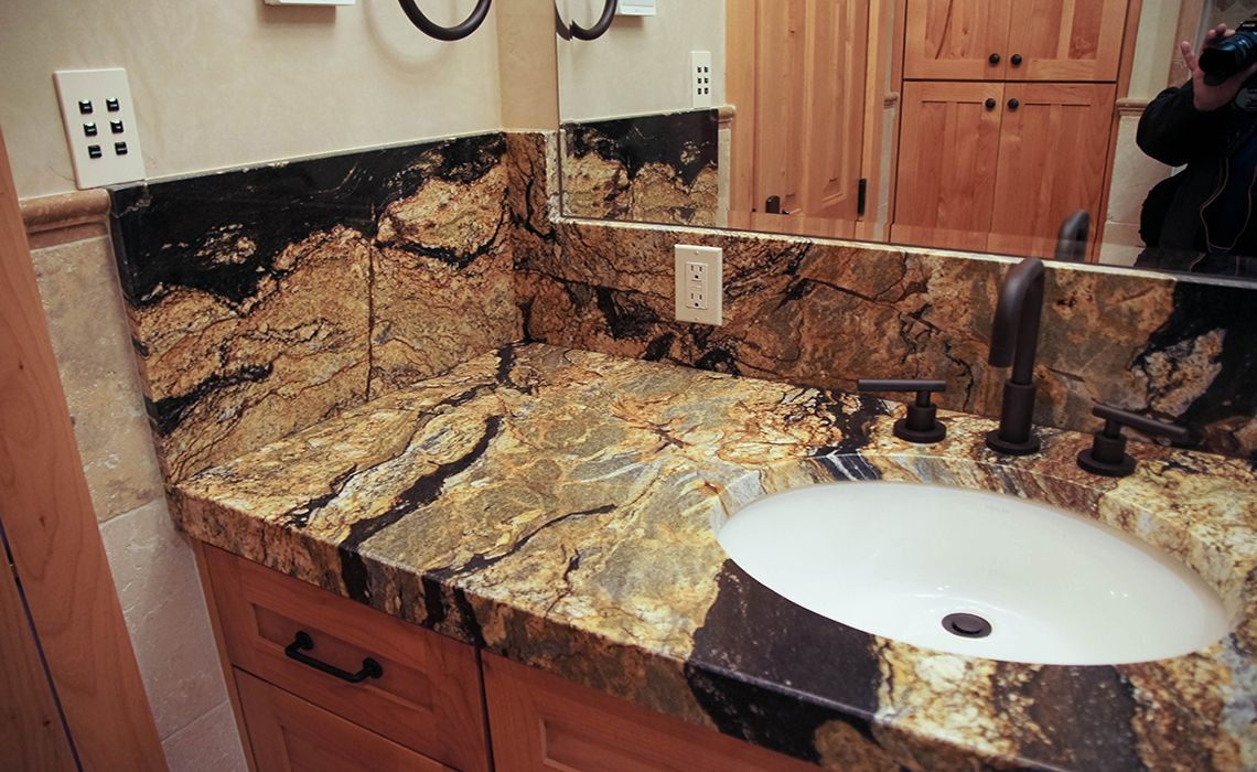 - Supreme Fantasy Granite With Miter Apron Edge And Full Height
