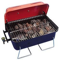 Crusader Gas Table Top BBQ Portable Barbecue Camping Caravan Inc Lava Rocks