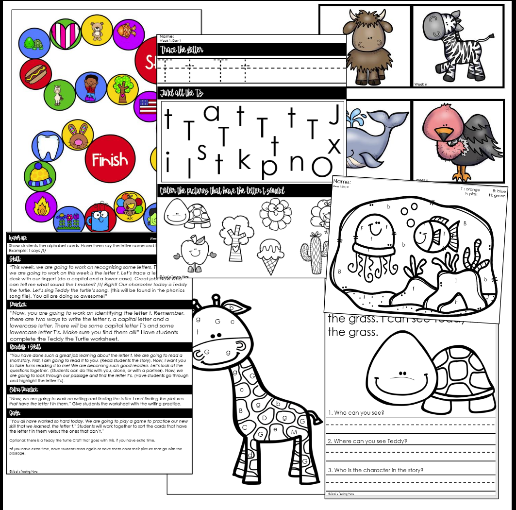 Letter Name & Sound Recognition Intervention Phonics