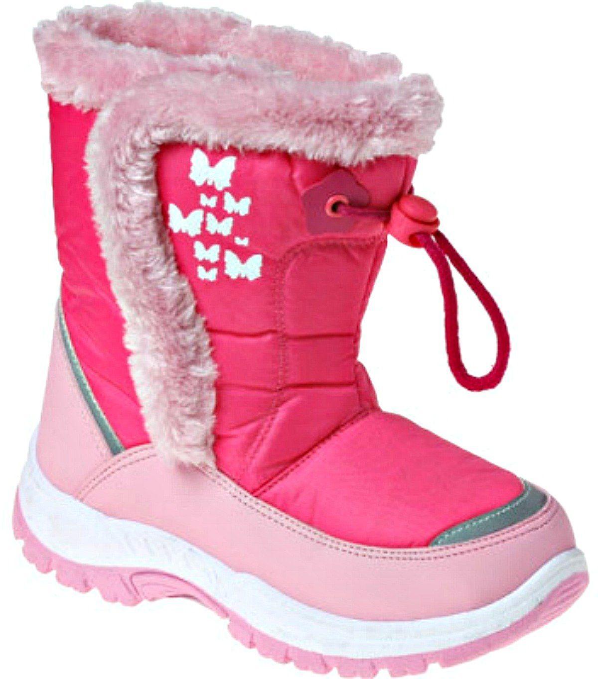 Black 10 M US Toddler Rugged Bear Girls Snowflake Print Snow Boots Kids