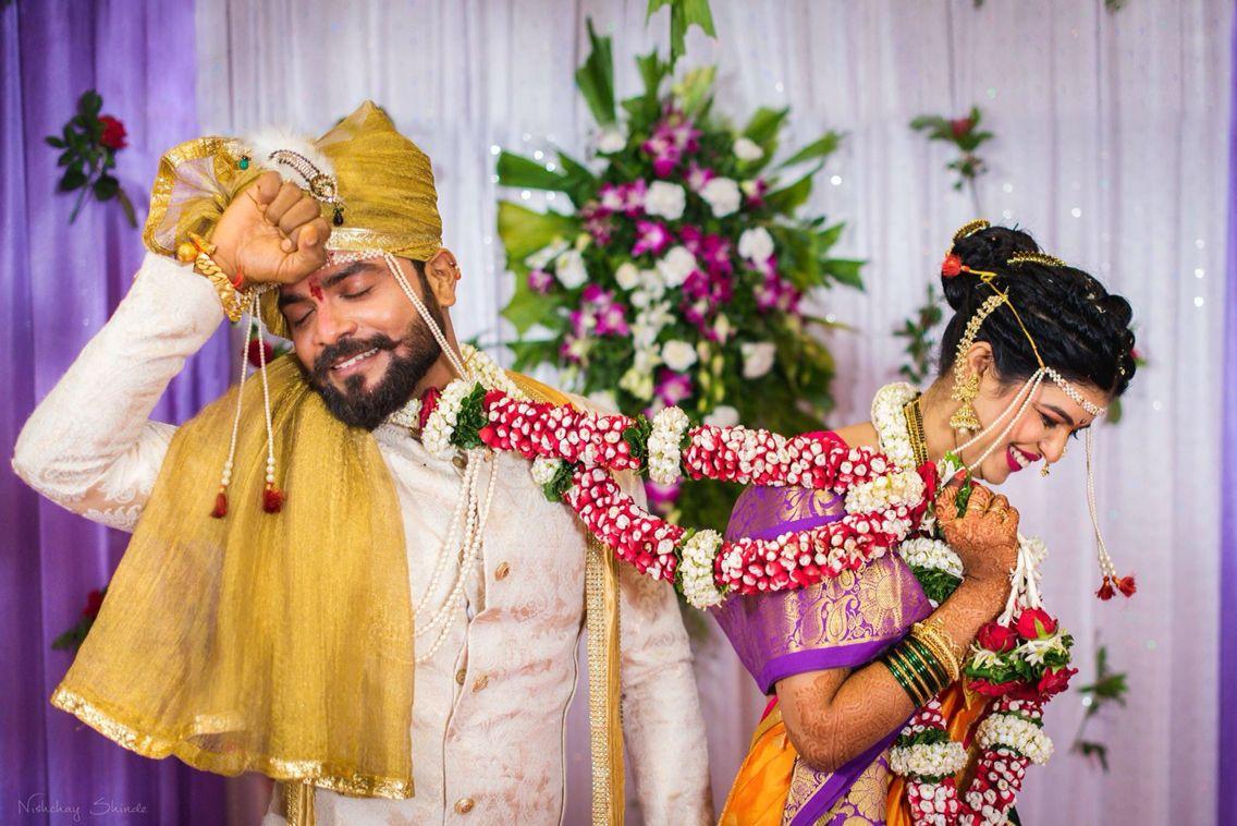 Cute pose Indian wedding couple photography, Bridal