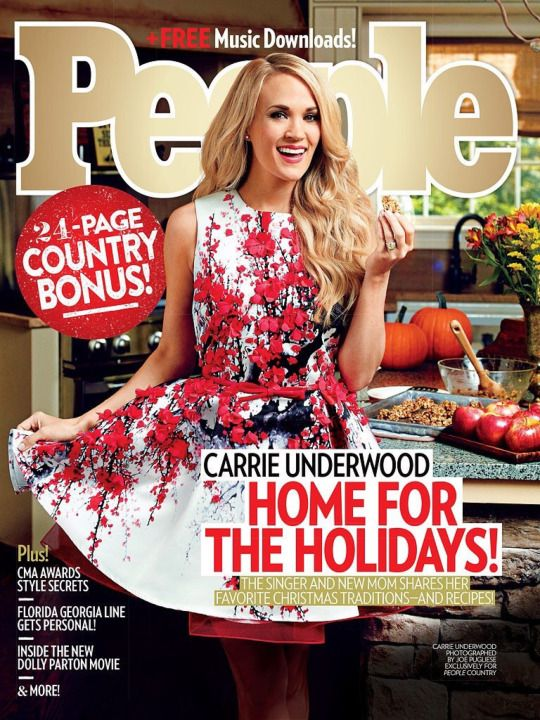 Carrie Underwood on the cover of People Country December 2015.
