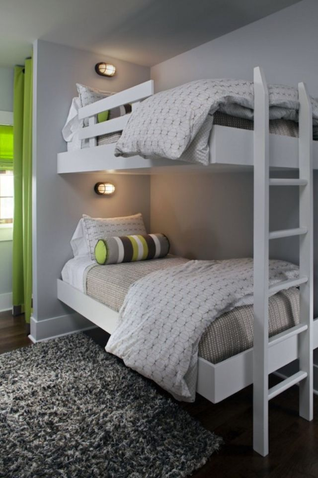 floating bunks with great green color accent bunk bed on wonderful ideas of bunk beds for your kids bedroom id=62176
