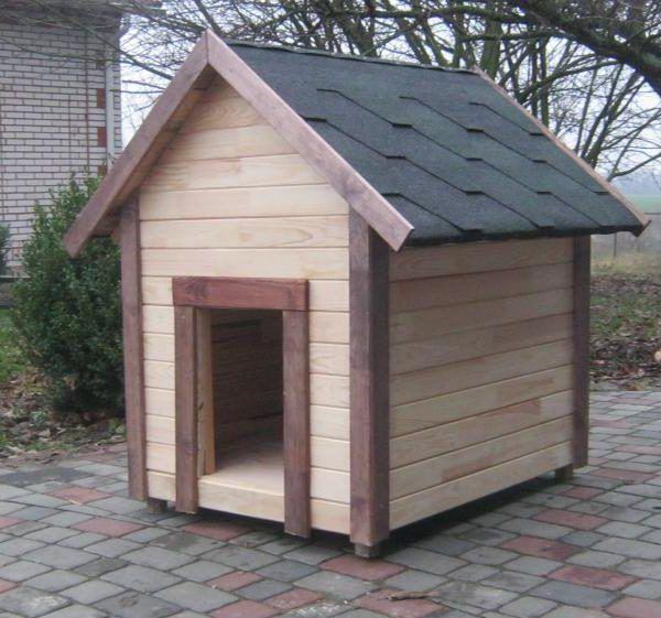 будка для собаки из бруса фото