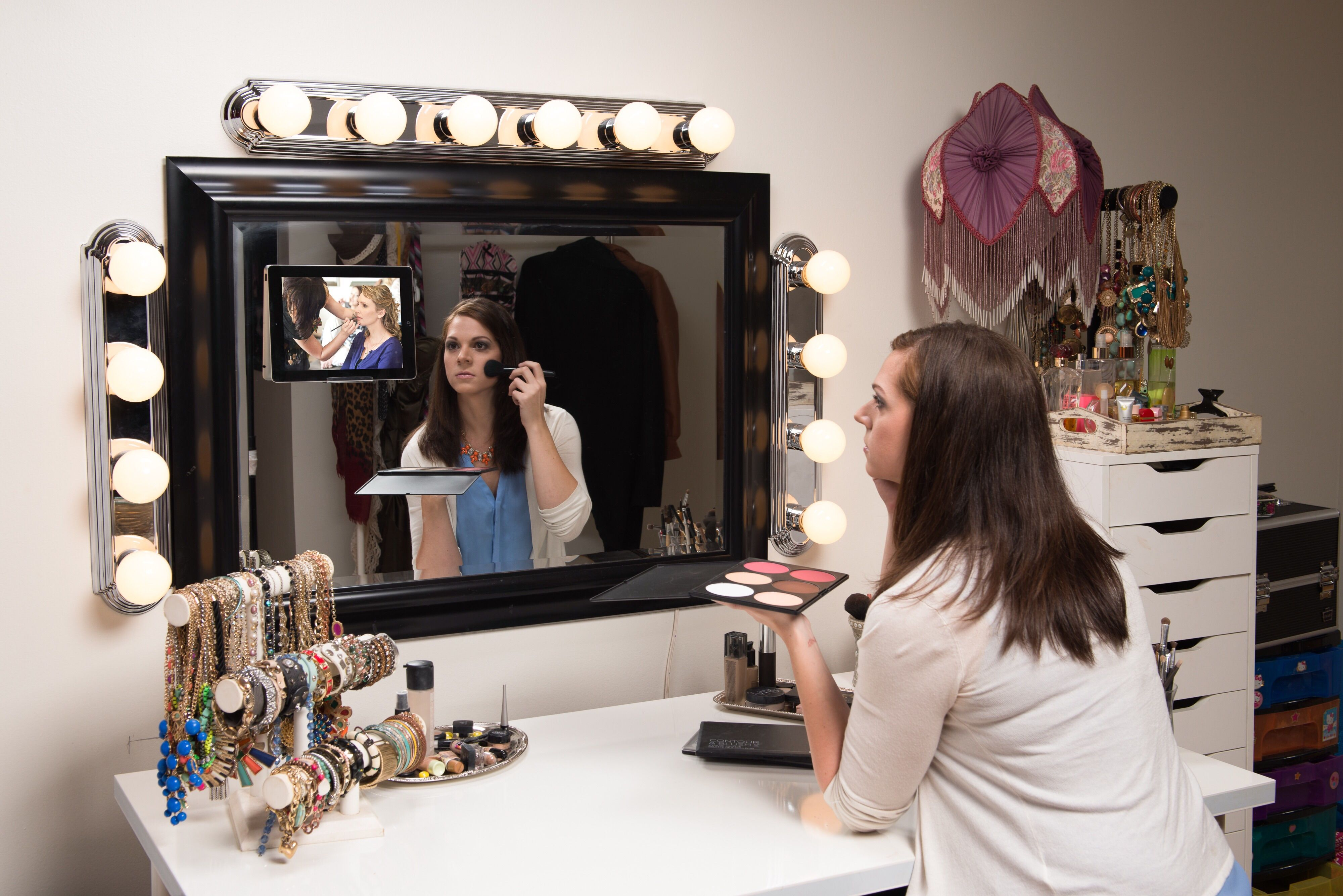 Follow make-up tutorials on your mirror.