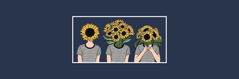 twitter � header � sunflower � wild child � background