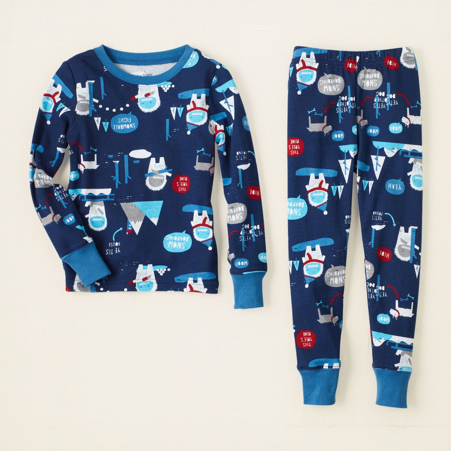 baby boy - sleep & underwear - yeti cotton pjs | Children's ...