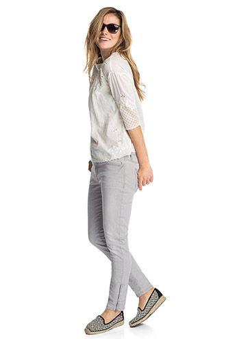 Esprit Knöchellange Stretch Jeans mit Zippern im Online