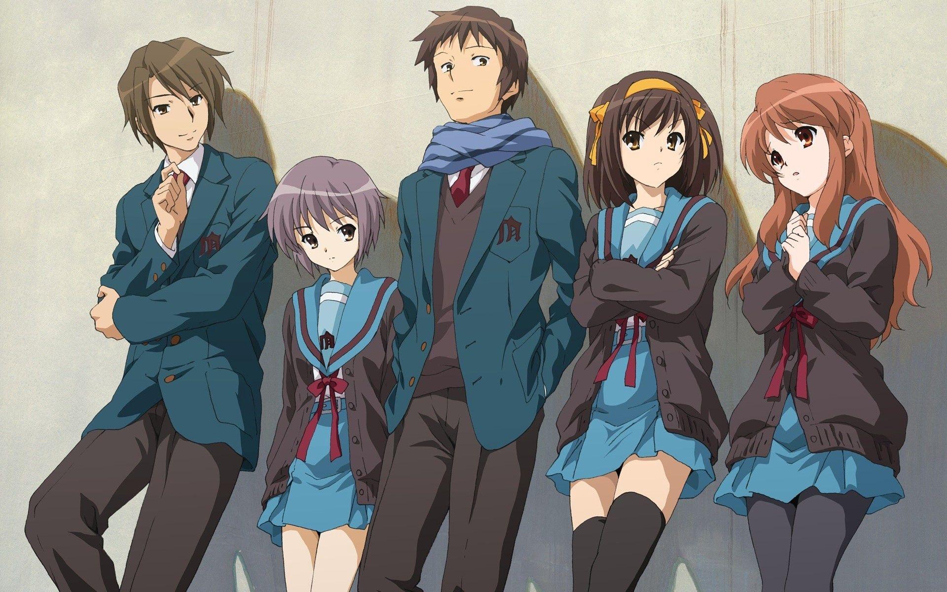 Wallpaper haruhi suzumiya anime, characters, haruhi