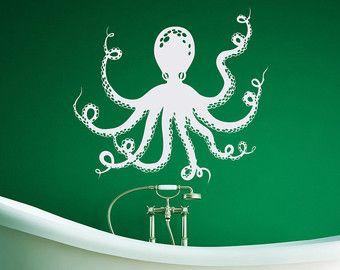 Octopus Tentacles Wall Decals For Bathroom Sea by PonyDecal & Octopus Tentacles Wall Decals For Bathroom Sea by PonyDecal ...