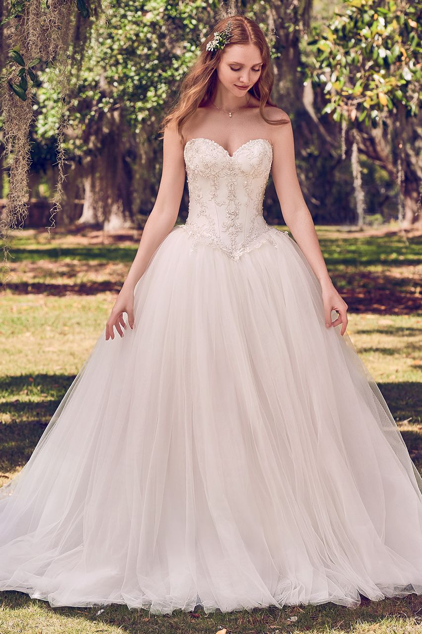 Ball gowns wedding dresses  Wedding Gown Gallery  Lace bodice Ball gowns and Wedding dress